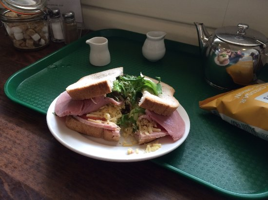 Birling Gap, UK: GF Cheese & Ham Sandwich