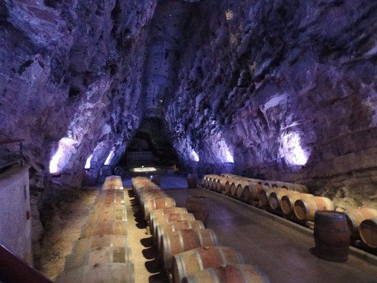 Portel-des-Corbières, France : Vin en fûts de chêne