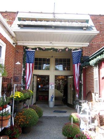 Historic Burlington Antiques Entrance