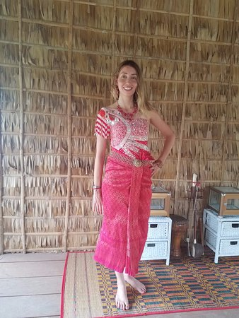Nhumbai The Village Experience Dressing Up In Traditional Cambodian Wedding Dress