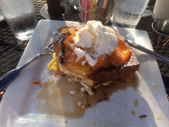 Rochester, MI: Peach French Toast - a lot of food for one.