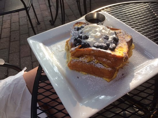Rochester, MI: Blueberry French Toast. A lot of food for one.