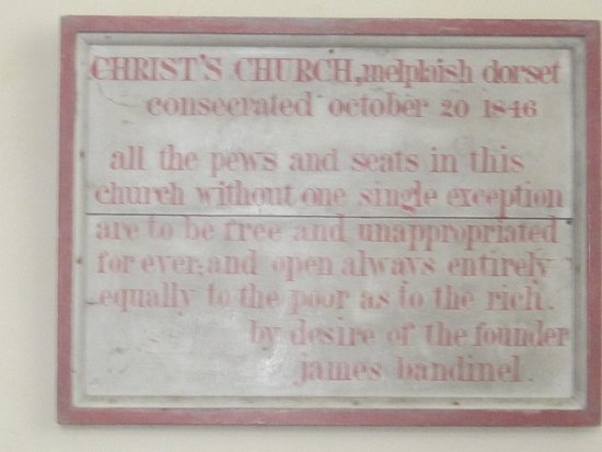Dorset, UK: Notice on church wall.