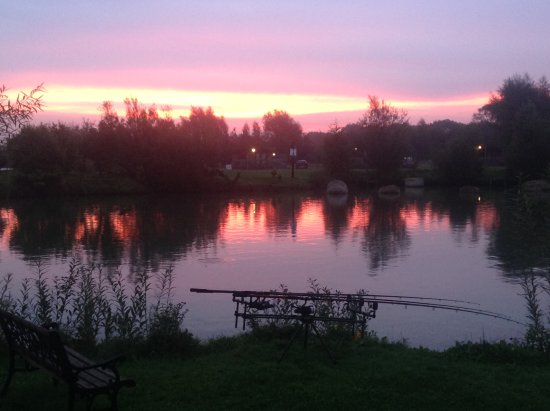 Selby, UK: Early morning fishing.