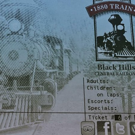Hill City, SD: train ticket