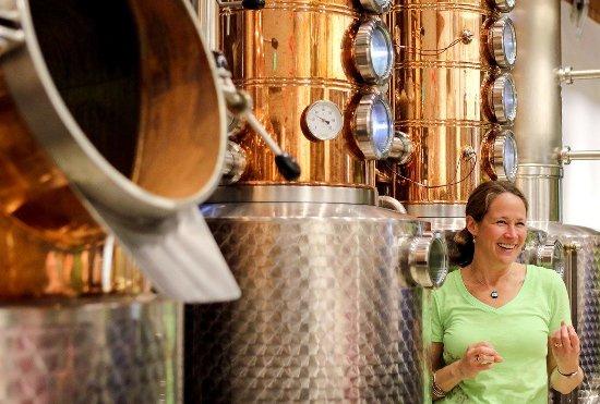 Edmonds, WA: Kim Karrick, owner and Head Distiller