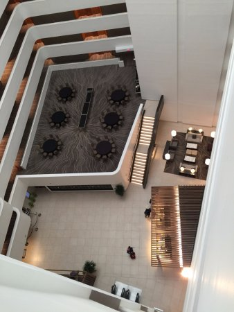 Bethesda, MD: View from high floor of lobby, Morton's lobby area