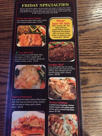 Friday Specials Picture Of Solbergs Greenleaf Sports Bar Grill
