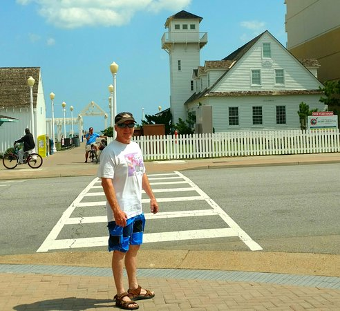 Virginia Beach Surf & Rescue Museum: What to look for on Atlantic Ave to find the museum which was turned 45 degrees to save it.