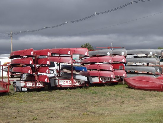 Old Town canoes at Graham Canoe Outfitters, Valentine, NE - Picture