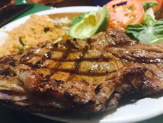 Rosa's Restaurant: Our juicy and perfectly seasoned Rib Eye steak