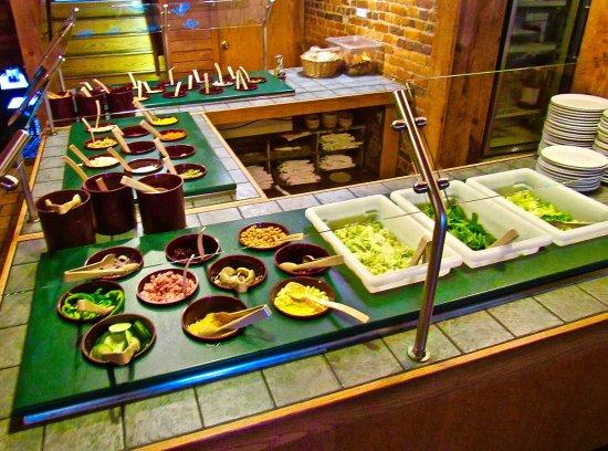 Dowagiac, MI : A pretty good & varied salad bar makes for a decent meal, itself
