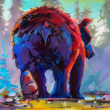 "Rossland, Kanada: ""Bear Bum"" Original Painting"