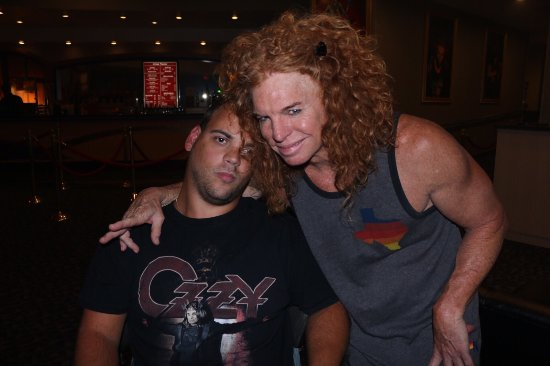 My friend with carrot top at a meet and greet before the show carrot top photo0g carrot top meet and greet m4hsunfo Gallery