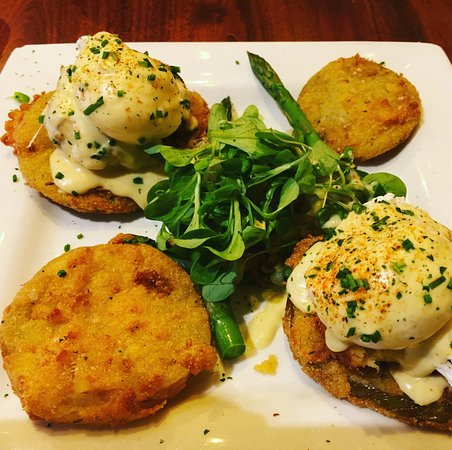 Miss Shirley's : Crab Cake & Fried Green Tomato Eggs Benedict. Highly recommend!