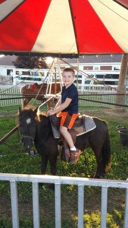 Wells, MN: Karson loves riding