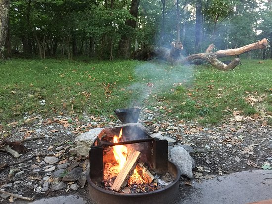 Lewis Mountain Cabins: Fire pit
