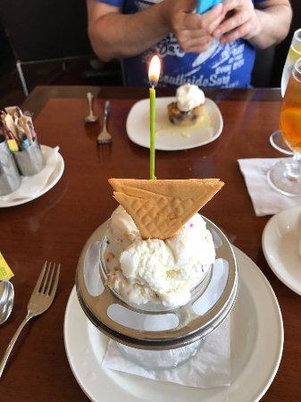 Space Needle Sky City Birthday Cake Ice Cream