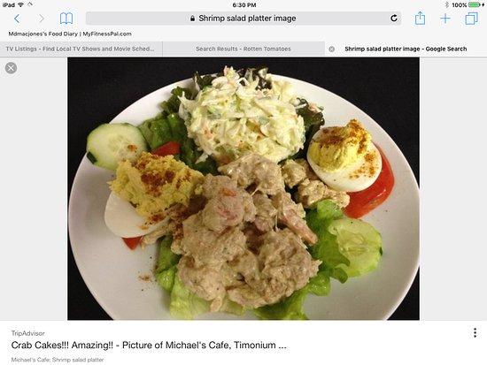 Timonium, MD: Shrimp salad platter