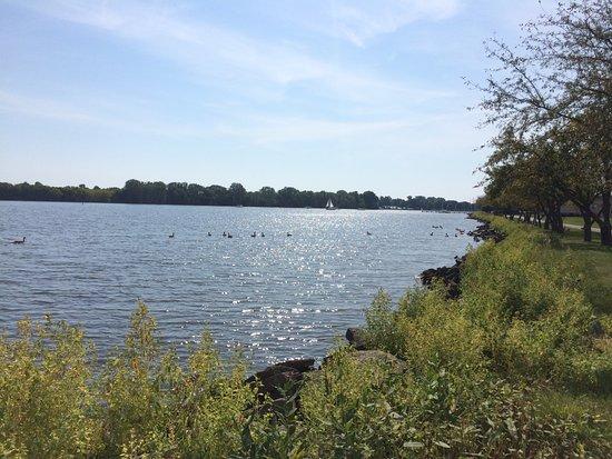 Oshkosh, WI: View from path of Lake
