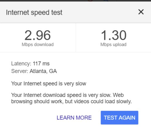 Park Grove Inn: Internet speed