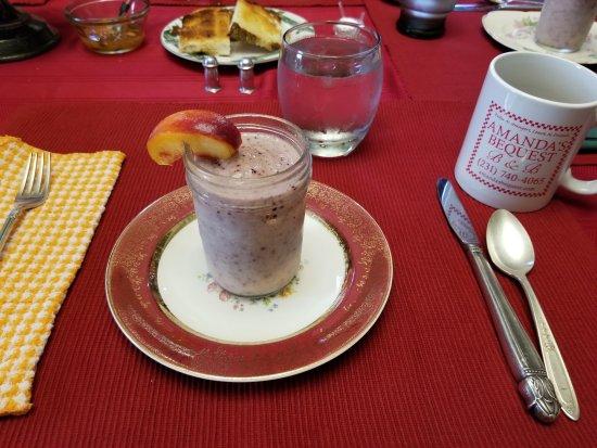 Montague, MI: Breakfast #1 start with sweet smoothie