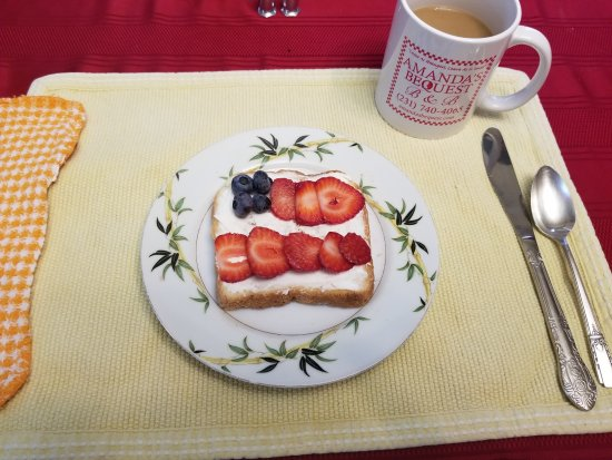 Montague, MI: Breakfast #3 start with sweet, holiday flag motif