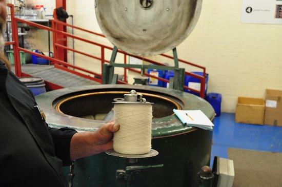 Selkirk, UK: Dyeing area