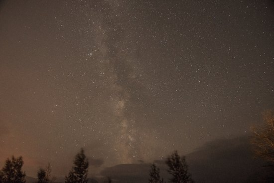 St Mary Lodge & Resort: Milky Way from hotel, a little cloudy from forest fire smoke