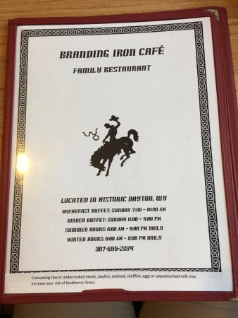 Branding Iron Cafe: Menu