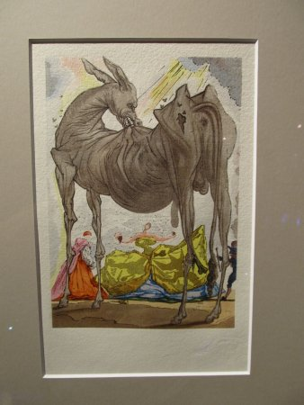 Salvador Dali Exhibition: this beast of burden showed up a lot in Dali's works. personal fave from the collection.