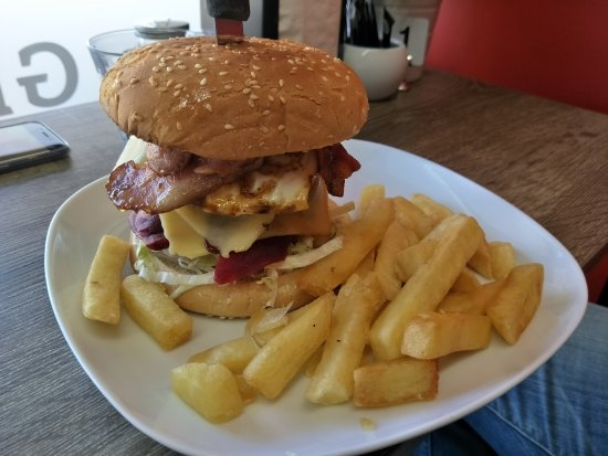 Young, Australia: The Swiss schnitzel and the Aussie beef burger