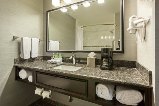 Holiday Inn Express Hotel & Suites Rapid City : Spacious bath vanity.