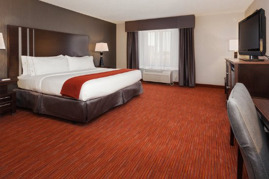 Holiday Inn Express Hotel & Suites Rapid City : Spacious room with king bed.