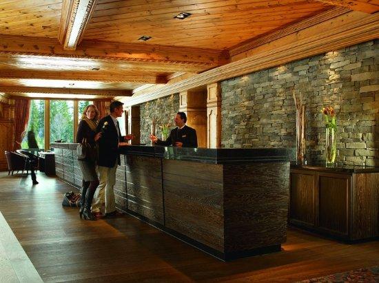Telfs, Austria: Reception in the five-star superior hotel in Tirol