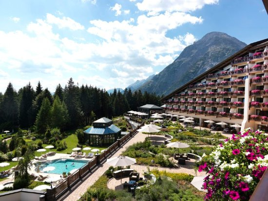 Telfs, Austria: Exterior view in summer with terrace