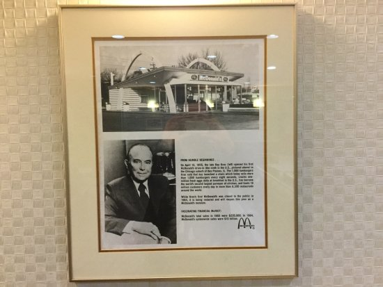 Des Plaines, IL: New McDonald's on the location of Ray Kroc's first McDonald's.