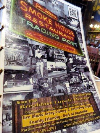 Monteagle, Τενεσί: menu cover page