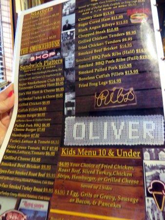 Monteagle, Τενεσί: platters & kids' menu