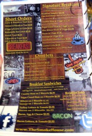 Monteagle, Τενεσί: breakfast items