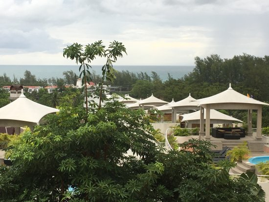 Pacific Club Resort: Picture from My Room 404. Nice hotel, we get free upgrade, nice sea view and perfect rooftop swi