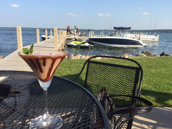 Green Lake, WI: chocolate mint martini