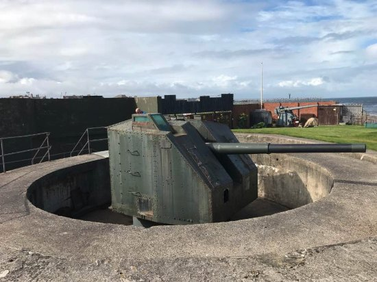 Hartlepool, UK: One of the guns in the battery