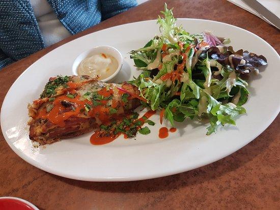 Benalla, Austrália: Special - ricotta, choritzo, capsicum, onion pie