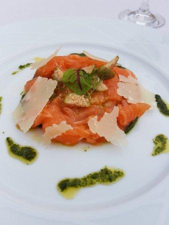 Puligny-Montrachet, France: Salmon