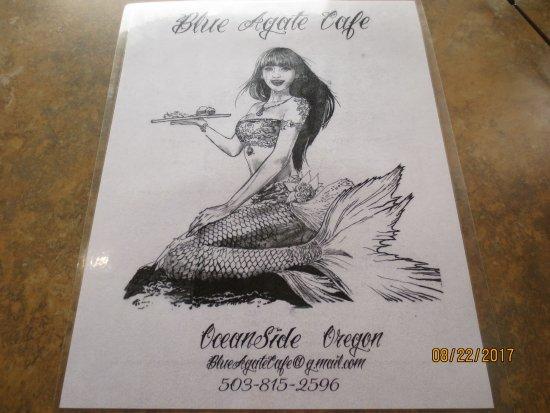 Oceanside, Орегон: menu cover