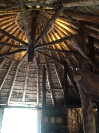 County Wexford, ไอร์แลนด์: inside a large Crannog