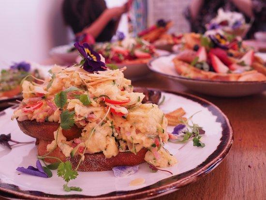 Thornbury, Australia: Chilli scrambled eggs ($18.90)