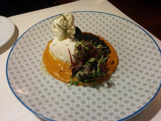 La Cholita: Burrata, truffle and mushroom sauce