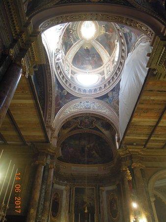 Église collégiale du naufrage de saint Paul : Interior of the cupola